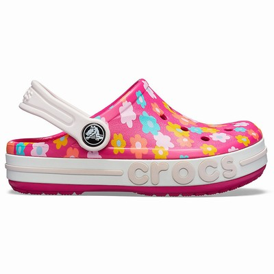 Detske Clogs Crocs Bayaband Seasonal Graphic Ruzove | YP4122QM