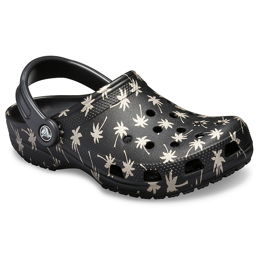 Damske Clogs Crocs Classic Seasonal Graphic Čierne / Zlate | DF1047WZ